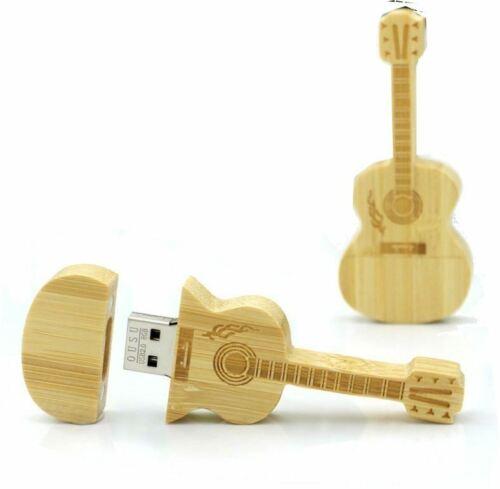 USB Stick Gitarre Violine Holz Musik Musiker Geschenk Musikinstrument Instrument