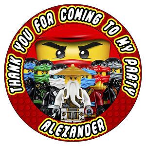 Personalizado Lego Ninjago Dragon Fiesta Cumpleanos Pegatinas