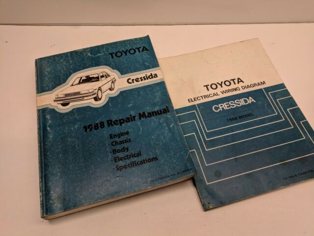 1988 Toyota Cresida Oem Factory Shop Manual And Electrical