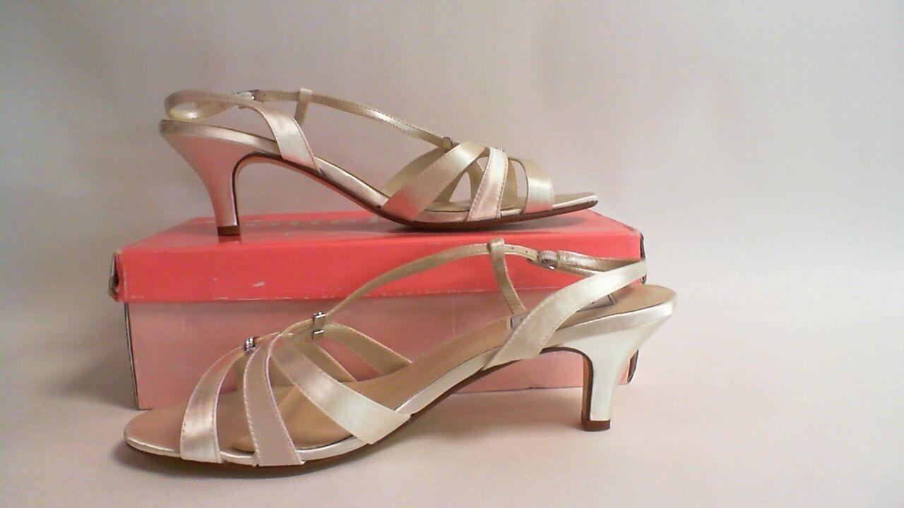 Touch Ups Wedding Shoes - Ivory Satin - Donetta- US 10W UK 8 #11B362