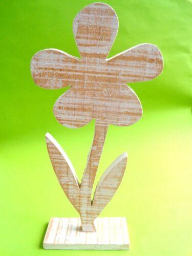 zum Bemalen für Kindergärten Neu 25 cm Holz Deko Blume Serviettentechnik