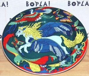 PEGASUS-GRUN-BOPLA-Porzellan-tieferTeller-22cm-Suppenteller-Schale-Salatteller