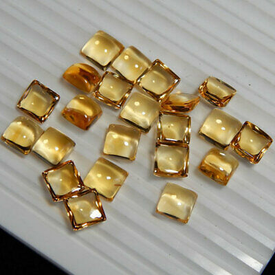 Loose Gemstone Jewelry 30 CTS Size- 11X9 MM AAA Citrine Faceted Cabochons Natural Citrine Citrine Oval Cut Cabochon Lot 10 Pieces