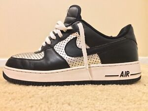 promo code 30df4 ff928 Image is loading NIKE-AIR-FORCE-1-Low-Black-Metallic-Silver-