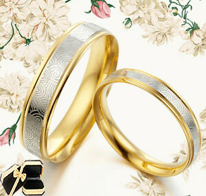 Gold-Wedding-Engagement-Bands-Titanium-Ring-080A3