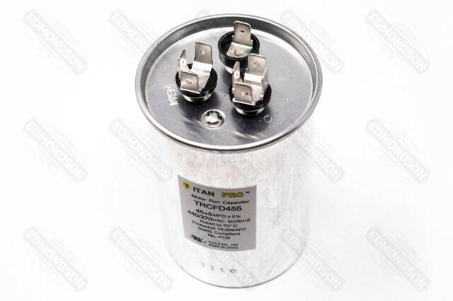 TITAN HD PRCFD555A Motor Dual Run Cap,55//5 MFD,440V,Round