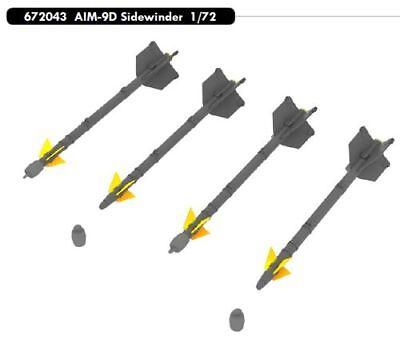 EDUARD BRASSIN 672043 AIM-9D Sidewinder Missiles in 1:72