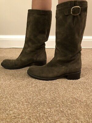 Annarita Ladies Khaki Suede Boot Size 39 Clothes, Shoes & Accessories Women's Shoes