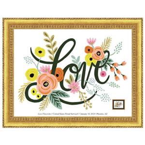 USPS-New-Love-Flourishes-Framed-Art-Gold-Frame