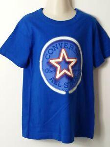 Garcons-Converse-bleu-rouge-blanc-a-manches-courtes-T-shirt-Age-6-7-Ans