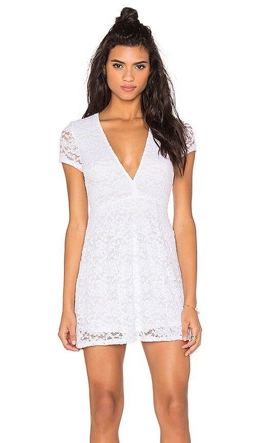 Show Me Your Mumu Ibiza White Lace Dress Stretchy Womens Sz S NWOT