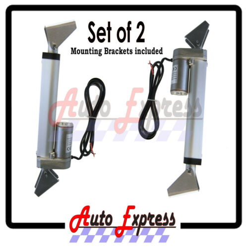 "2 Water Res 10/"" Linear Actuators w// Bracket Stroke 12 Volt DC 200 Pound Max Lift"