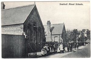Early-SOUTHALL-Mixed-Schools-LONDON-Postcard