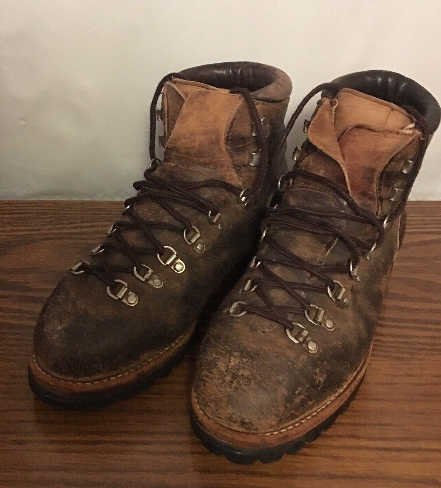 Original Vintage Vasque Hiking Mountaineering Stiefel (Größe 10 D) 20336