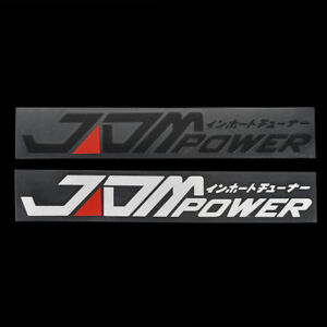 JDM-POWER-Car-Styling-Sticker-Bumper-Decal-Safety-Reflective-Warning-Stickers