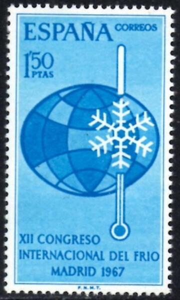 (ref-8165) Espagne 1967 International Réfrigération Congress Sg1875 Comme Neuf (neuf Sans Charnière)