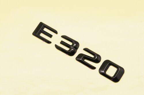 GLOSS BLACK BENZ E320 REAR TRUNK LETTERS BADGE EMBLEM FOR MERCEDES BENZ E-CLASS