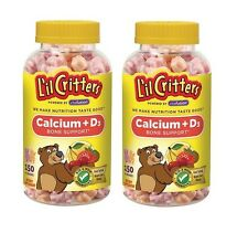 Exp. 12-17 Lil Critters Calcium Vitamin D3 300 Gummy Bears Total  L'il Children