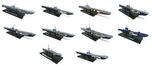 Conjunto de 10 submarinos 1 350 - U-avvio HMS Segunda Guerra Mundial Atlas Militar Guerra Lancha Barco