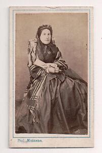 Vintage-CDV-Sever-looking-French-matron-Knitting-Miranda-Photo