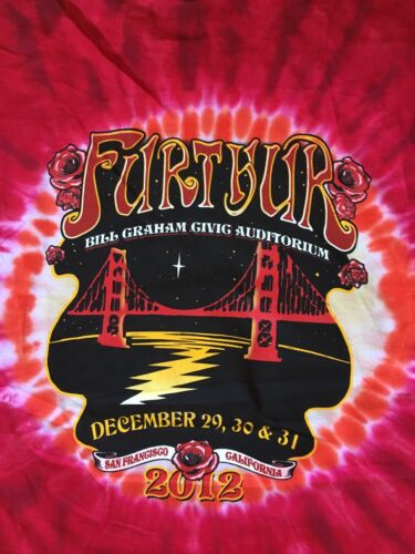large Grateful Dead Furthur New Year/'s Eve San Fran shirt 2012 tie dye shirt