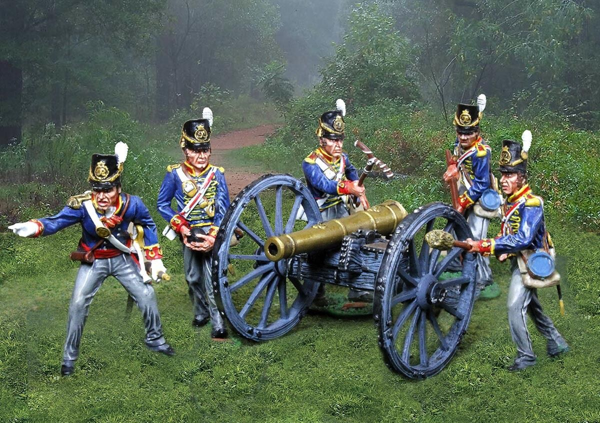 COLLECTORS SHOWCASE NAPOLEONIC BRITISH ROYAL ARTILLERY SET MIB