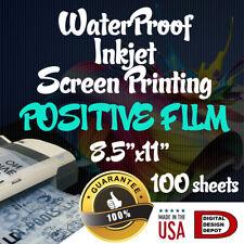 Waterproof Inkjet Transparency Film For Screen Printing 85x11 100 Sheets
