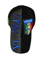 2c9c52cd53caa item 6 ITALIA ITALY BLACK COUNTRY FLAG FIGC LOGO FIFA WORLD CUP EMBOSSED HAT  CAP .. NEW -ITALIA ITALY BLACK COUNTRY FLAG FIGC LOGO FIFA WORLD CUP  EMBOSSED ...