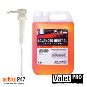 ValetPro Advance Snow Foam 5 Litre 5L Special Offer On Listing Free Pump Valet