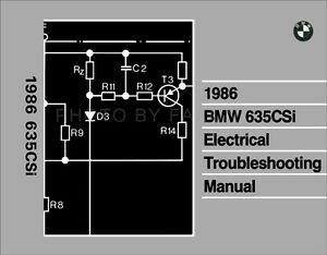 1986 bmw 635csi electrical troubleshooting manual wiring diagrams rh ebay com  bmw 635 csi wiring diagram