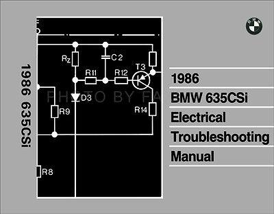 [DIAGRAM_3ER]  1986 BMW 635CSi Electrical Troubleshooting Manual Wiring Diagrams Book 635  CSi | eBay | 1986 Bmw 635csi Fuse Diagram |  | eBay