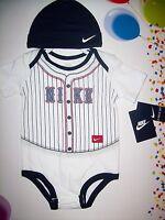 Nike Baseball Bodysuit Hat 2pc Set Baby Infant Boy Girl Sz Select Months