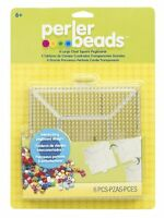Perler Beads Clear Square Pegboards 4 Pack , New, Free Shipping on sale