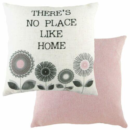 Evans Lichfield Retro Design Cushions Dandelion Design in Pink Grey 43cm x 43cm