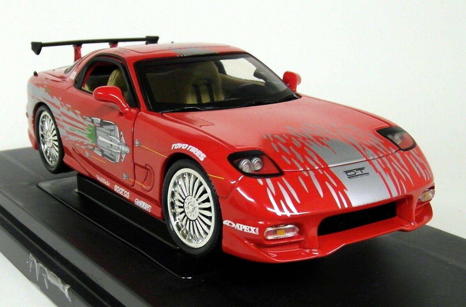 ERTL échelle 1 18 - Fast & Furious 36973 DOM'S MAZDA RX-7 1993 rouge Diecast Car