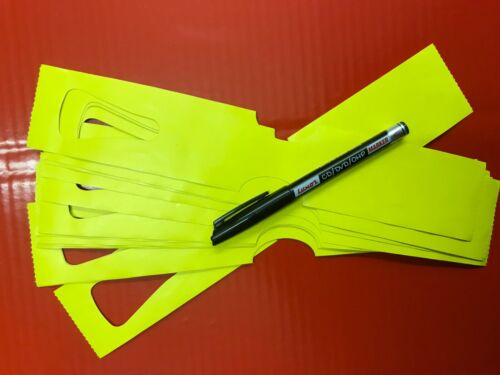 280mm X 50mm X 500 LOOP AND LOCK SHRUB LABELS // TAG BRIGHT YELLOW PEN