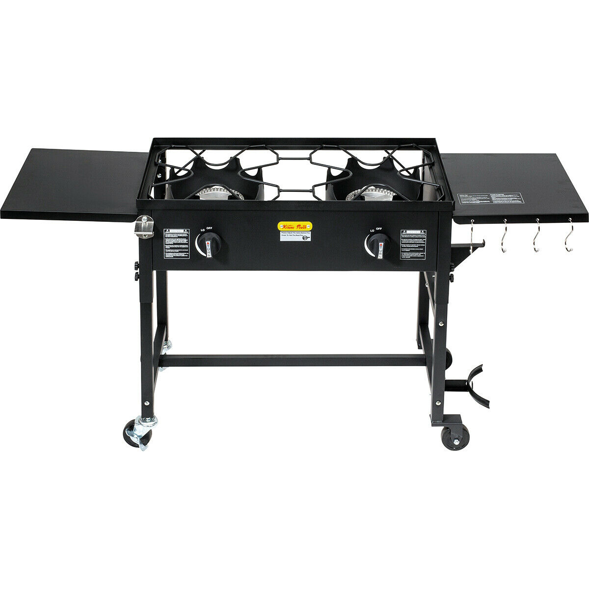 Dual Burner Stove Cooking Station Outdoor Camping Propane  BBQ Grill 58,000BTU  free delivery