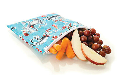 Bumkins Waterproof Reusable Washable Zippered Snack Bag - Large