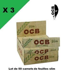 OCB-slim-Hemp-bio-3-boxes-50-booklets-of-sheet-rolling-long-slim-PROMO