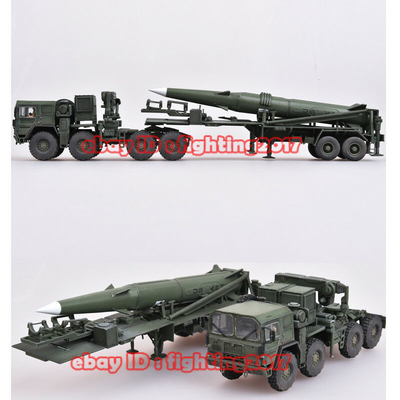 1 72 MAN M1001 Heavy Tactical Military Vehicles+Pershing 2 guided missile Model