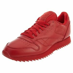 Reebok Classic Leather Ripple Mono Men s Running Training Shoes Red ... 9d0f46df8