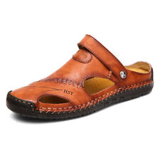 ee290b595 item 1 Men Hand Stitching Outdoor Closed Toe Leather Sandals Casual Round  Toe Slippers -Men Hand Stitching Outdoor Closed Toe Leather Sandals Casual  Round ...