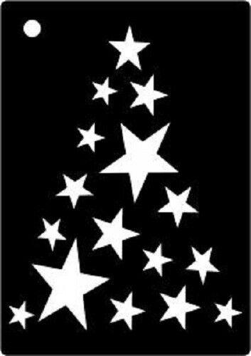 Creative Expressions Mini Stencil máscaras Star Árbol Aprox 105 X 7mm cemsstartree