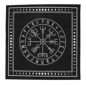 Triple-Moon-Pentagram-Altar-Tarot-Cloth-Black-Divination-Cards-Wicca-Velveteen