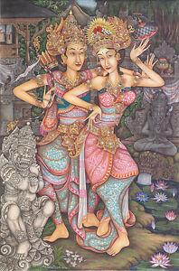 Hand-painting-Balinese-Arjuna-Sita-Ramayana-262