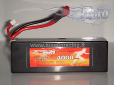 BATTERIA LIPO 4000 mAh 14,8V burst 60C disch 30C 4S AUTO BARCHE HARDCASE HIMOTO