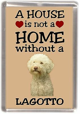 """Spanish Water Dog Fridge Magnet /""""A HOUSE IS NOT A HOME/"""" by Starprint"""