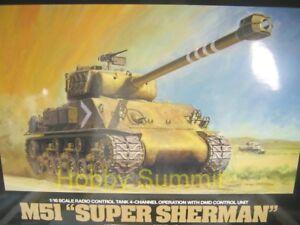 56032-Tamiya-1-16-R-C-ISRAELI-M51-SUPER-SHERMAN-Tank-Full-Option-Model-Kit