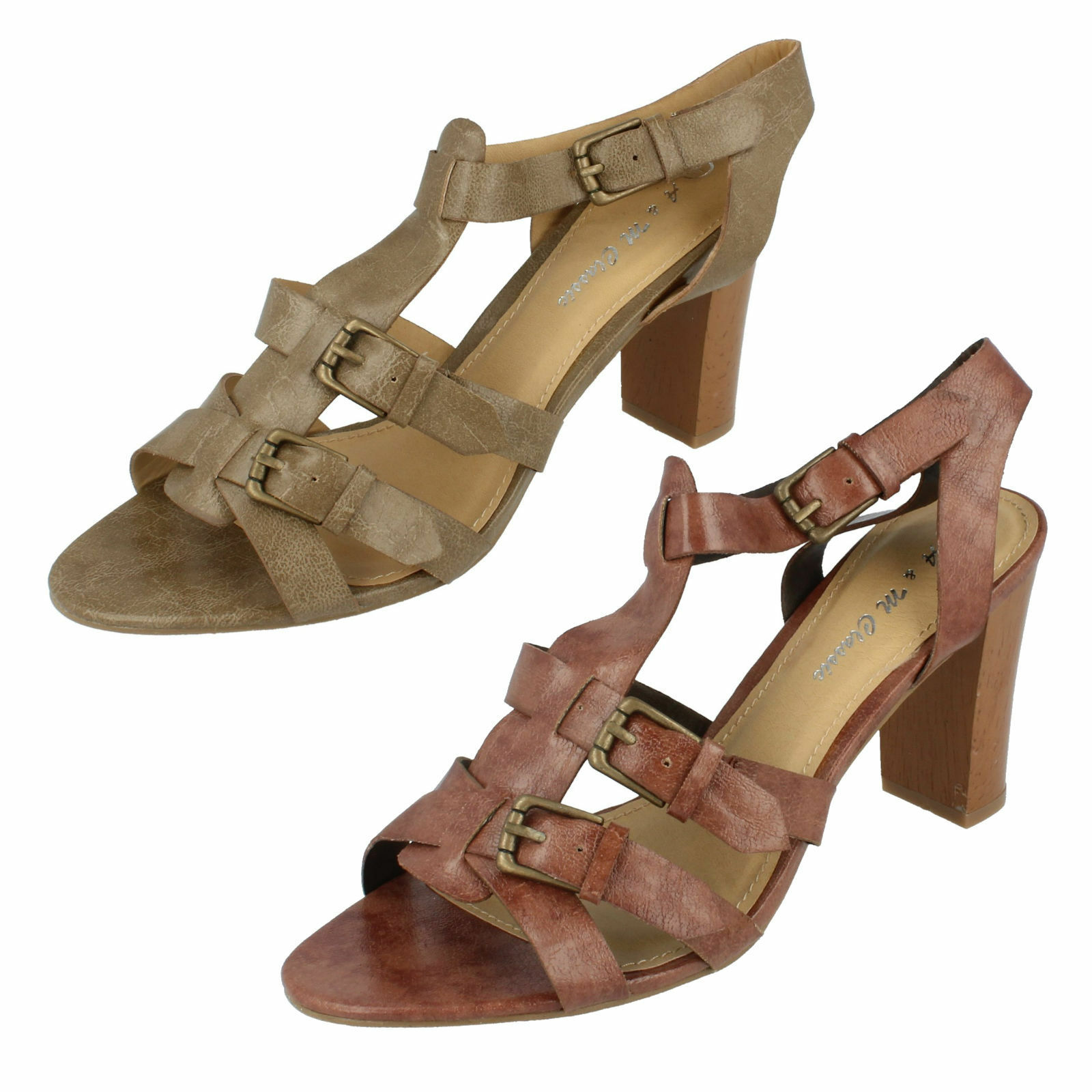 Ladies L3906 Heeled M Sandals By A & M Heeled Classic - Retail Price 2a0ed4