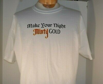 Vintage Mens Rumple Minze Schnapps Liquer  Liqeuor Black  Mens Tee T Shirt NEW